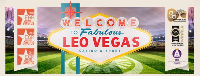 LeoVegas Casino - welcome page