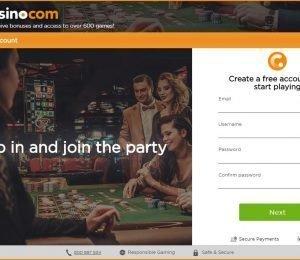 casino.com sign up page