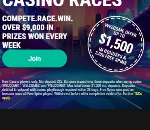 Pokerstars Casino Races