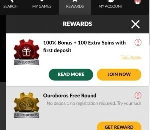Shadowbet Casino rewards