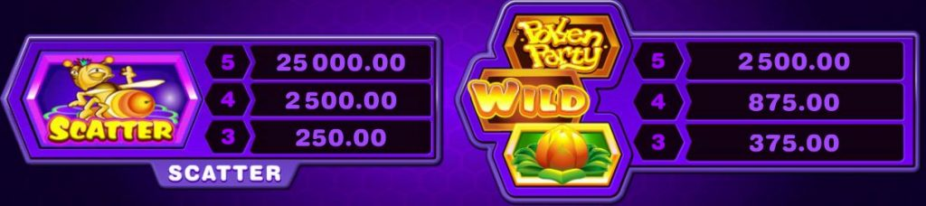 Pollen Party Slot - Paytable