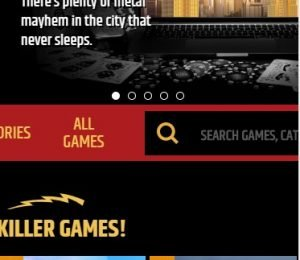 Metal Casino hompeage screenshot