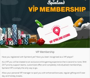 Spinland VIP membership