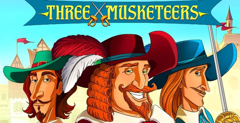 the three musketeers slot game demo logo