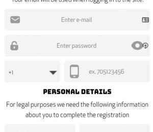 Casino Calzone account registration