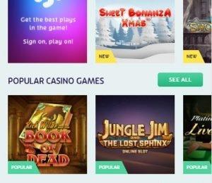 Playojo games screenshot
