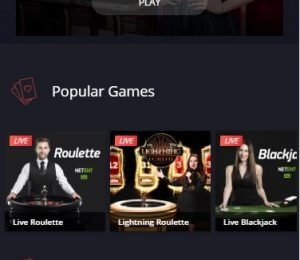 Twin Casino live casino screenshot
