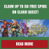 Claim up to 50 free spins on Cloud Quest – Playfrank Casino Promotion