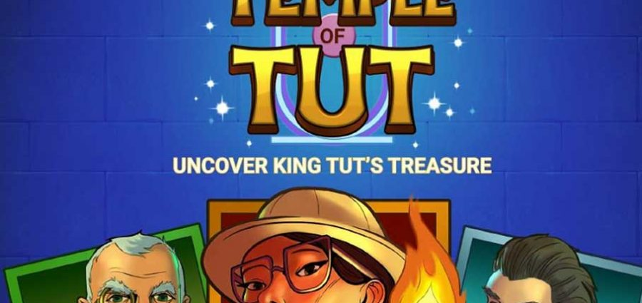 Temple Of Tut Slot Game Demo Screen Image