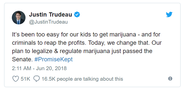Canada Day - Justin Trudeau Tweet