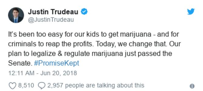Justin Trudeau Twitter Tweet