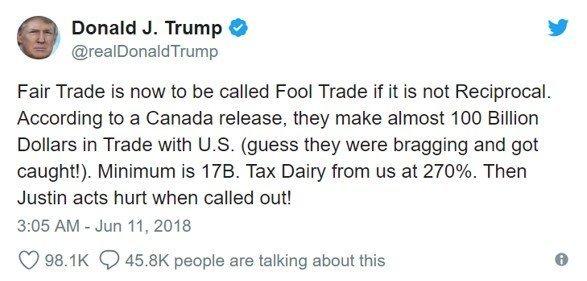 Donald Trump Tweet Screenshot