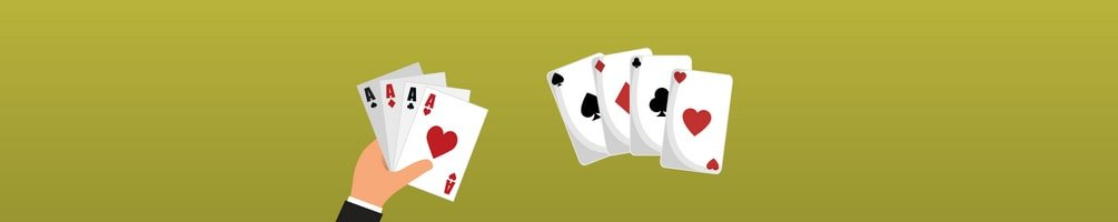Dealer Hand and Playing Cards