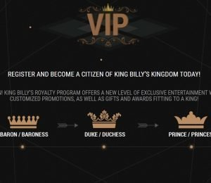 King Billy VIP club screenshot