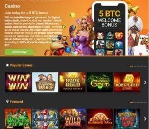Cloudbet casino screenshot
