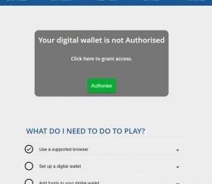 Crypto Casino digital wallet screenshot