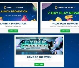 Crypto Casino promotions screenshot