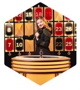 Lightning Roulette - Dealer with Cards