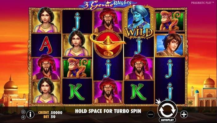 3 Genie Wishes Slot Gameplay-min