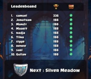 Duelz Casino - Screenshot of Leaderboard