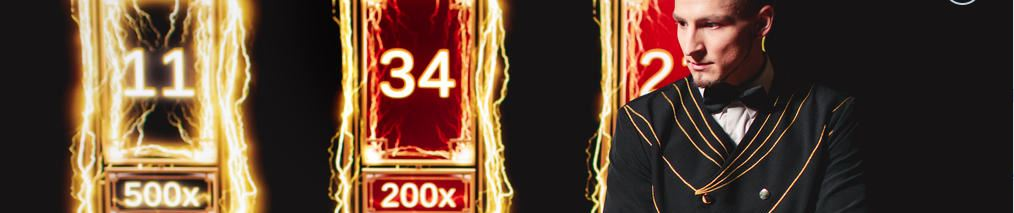Lightning Roulette - Dealer Next to Roulette Table