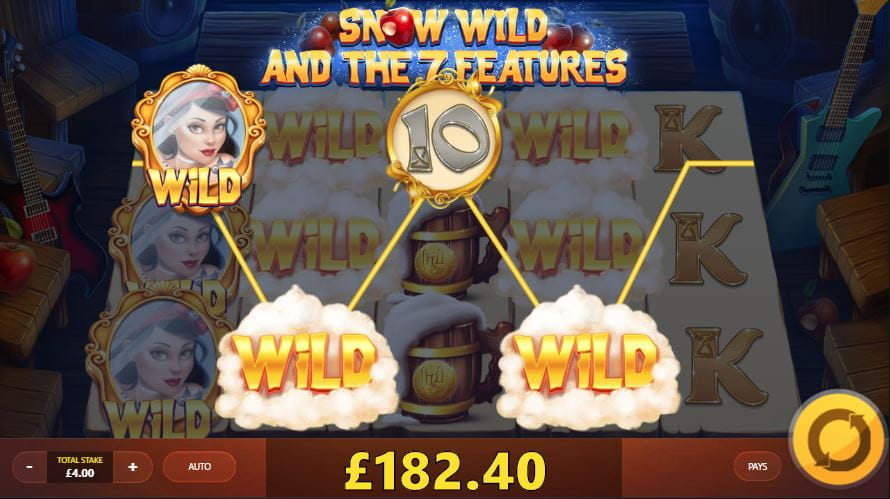 Snow Wild and the Seven Features Slot Gameplay-min