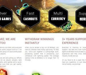 Bitstarz Casino - About Us Screenshot