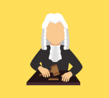 Animated Judge Cartoon