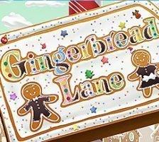 Gingerbread Lane Slot Logo