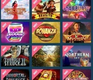 MyChance Casino popular slots screenshot