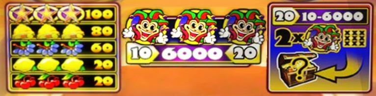 jackpot 6000 paytable
