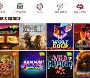 Bob Casino top games-min