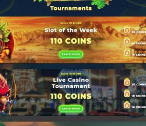 Wazamba Casino - Tournaments Screenshot