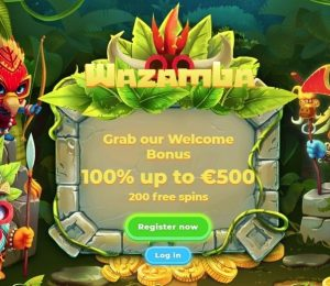 Wazamba Casino - Welcome Bonus Screenshot-min