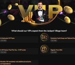 Jackpot Village VIP page
