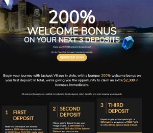 Jackpot Village promotions and bonuses