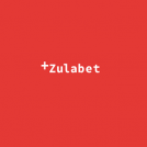 Zulabet logo white text on red background