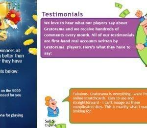 Gratorama testimonials screenshot