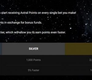 AstralBet points screenshot