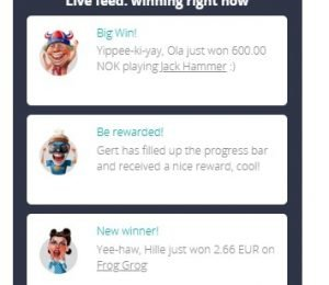 Chanz Casino live feed screenshot