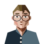 Felix icon of blond male with glasses