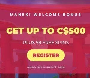 Maneki welcome offer screenshot