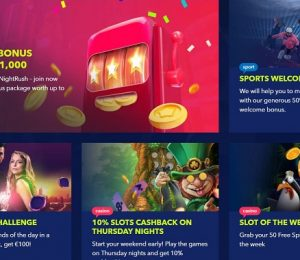 Nightrush offers and promotions page