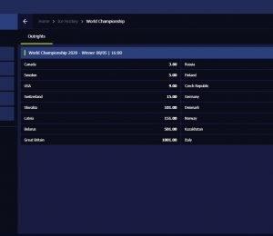 Nightrush sports betting page screenshot