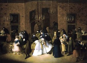The Ridotto in Venice - a painting by Pietro Longhi