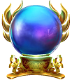 Rise of Merlin symbol - crystal ball