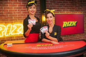 Rizk live casino blackjack dealers brunette
