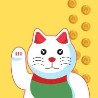 Money cat icon