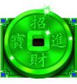 Caishen's Cash Jade Coin Symbol