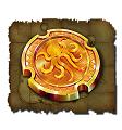 Gold coin symbol